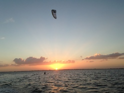 321 Kiteboarding sunset